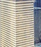 现代大厦门面在街市休斯敦 免版税库存图片
