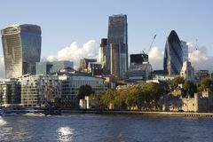 现代大厦,伦敦都市风景 库存照片