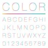 现代字母表(大写) 图库摄影
