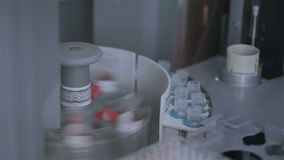 现代医学制造业和实验室设备 线路配药生产 影视素材