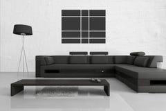 现代客厅|建筑学内部 免版税库存图片