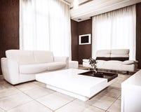 现代室内设计 免版税库存图片