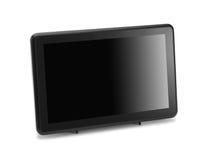 现代宽银幕lcd电视显示器 库存照片