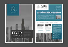 现代小册子模板飞行物设计传染媒介模板 免版税库存照片