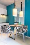 现代小厨房内部 图库摄影