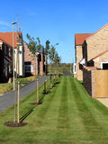 现代居住区在英国 免版税库存图片