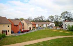现代居住区在英国 免版税库存照片