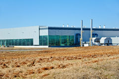 现代工厂厂房 库存图片