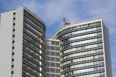 现代市的住宅建筑学莫斯科 库存图片
