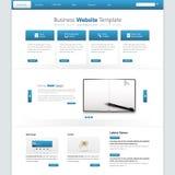 现代干净的企业网站模板 传染媒介EPS 10 免版税库存照片