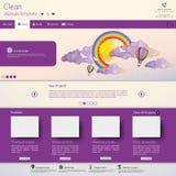 现代干净的网站模板 免版税库存照片
