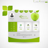 现代干净的绿色企业网站模板 免版税库存照片