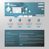 现代平的网站模板EPS 10传染媒介例证 库存图片