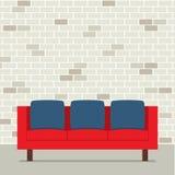 现代平的设计沙发内部 图库摄影
