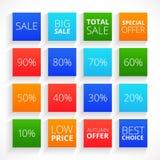 现代平的销售符号集 免版税图库摄影