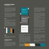 现代平的页面设计 免版税库存图片