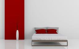 现代床3D 库存例证
