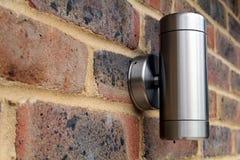 现代庭院照明设备 库存照片