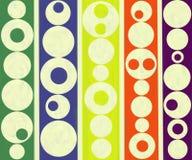 现代当代抽象圆圈子绘 免版税库存照片