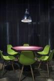 现代当代最小的室内设计 免版税库存图片