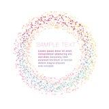 现代微粒圆环设计元素 库存图片
