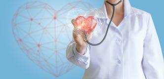 现代心脏的诊断 库存图片