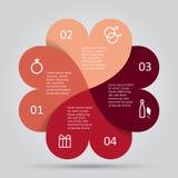 现代心脏infographics选择横幅 库存图片