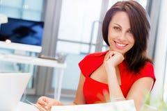 现代成功的女商人 库存照片
