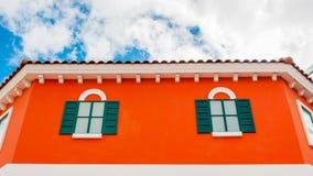 现代房子外部 库存照片