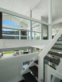 现代房子,楼梯 库存图片