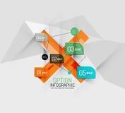 现代抽象企业几何infographics 库存图片