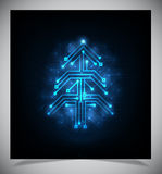 现代抽象圣诞树, eps 10 图库摄影