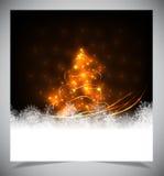 现代抽象圣诞树, eps 10 免版税库存图片