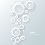 现代抽象工业齿轮背景 免版税图库摄影