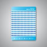 现代抽象模板布局小册子,杂志 免版税库存照片