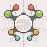现代抽象流程图infographic元素 库存图片