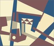 现代抽象的构成 免版税库存照片