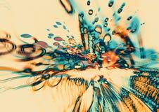现代抽象行动,五颜六色的被弄脏的污点 免版税库存照片