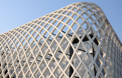 现代抽象建筑学大厦 免版税库存图片