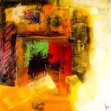 现代抽象绘画艺术artprint 免版税库存图片