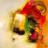 现代抽象绘画艺术artprint 免版税库存照片