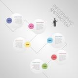 现代抽象infographics时间安排传染媒介 免版税图库摄影