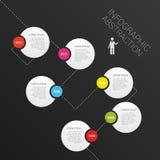 现代抽象infographics时间安排传染媒介 库存照片
