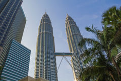 现代摩天大楼在大城市 免版税库存照片