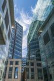 现代摩天大楼看法在伦敦市 库存图片