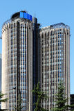 现代摩天大楼,马德里,西班牙 库存图片