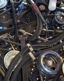 现代收割机引擎  免版税库存图片
