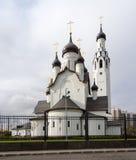 现代教会在Sankt-Peterburg 免版税库存图片