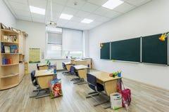 现代教育内部的学院的幼儿园学龄前教室 图库摄影