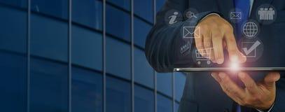 现代数字式业务管理 免版税库存图片